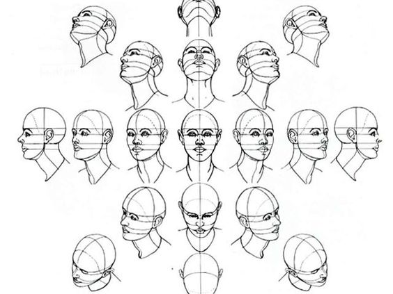 Drawing heads at an angle always goes a bit wrong, this should help!: