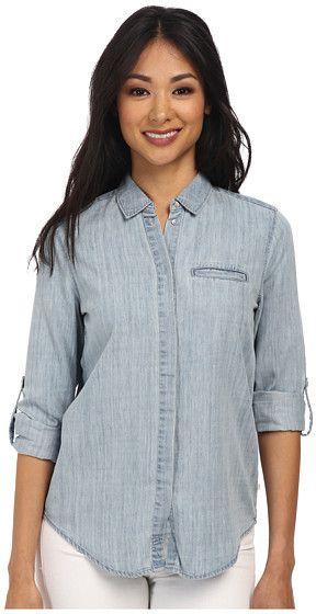 $52, Light Blue Denim Shirt: Calvin Klein Jeans Denim Button Down Shirt. Sold by 6pm.com. Click for more info: https://lookastic.com/women/shop_items/313629/redirect