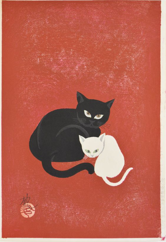 Black Cat and White Cat by Iku Nagai (Ref#: JP6315)