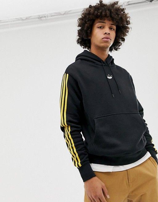 Muerto en el mundo Gestionar ladrón  adidas Originals   adidas Originals Floating Stripe Hoodie in black   Striped  hoodie, Latest fashion clothes, Mens sweatshirts hoodie