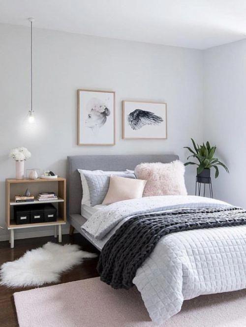 Pink Grey Bedroom Idea Bedroom For Women For Teens For Girls For Couple Master Bedroom Design Bedroomideasmast Bedroom Design Bedroom Interior Simple Bedroom