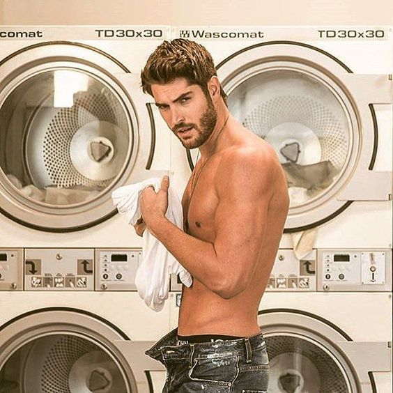 I wouldn't mind if I saw him at the local laundromat.  He looks really hot here shirtless and in jeans.