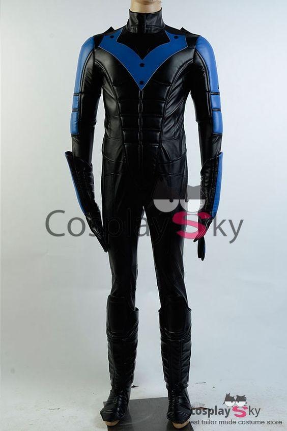 Batman:Arkham City Nightwing Richard John Dick Grayson Cosplay Kostüm Voll Set | CosplaySky.de