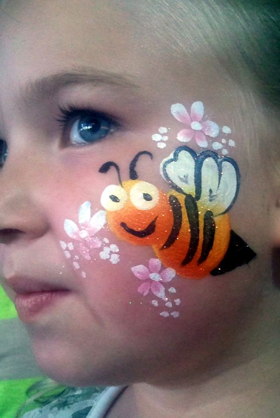 Basic Bumble Bee Face Painting