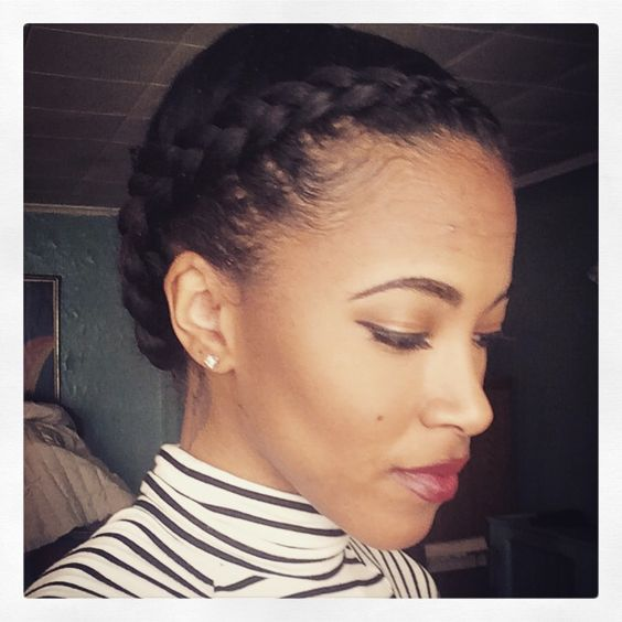 Wondrous Two Cornrows A Quick Amp Easy Protective Style For Natural Hair Short Hairstyles Gunalazisus