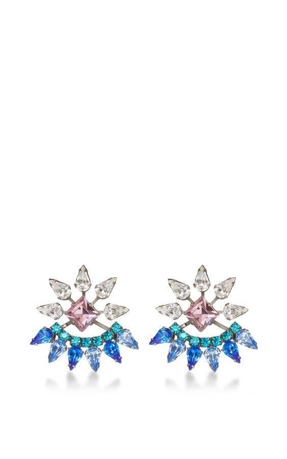 Livi Swarovski-Crystal Earrings by Dannijo - Moda Operandi