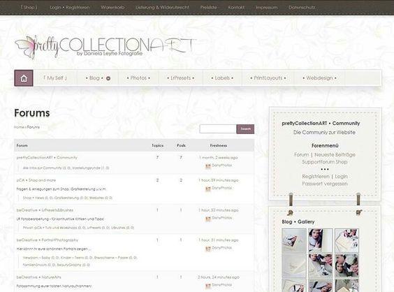 Die prettyCollectionART • Community ist da!!!  https://collectionart.d-designerin.de/forum/  Schaut rein! Support für Shop, Presets & mehr, kleine Fotocom zum Austausch etc ...   Viel Spass wünsch ich euch!!!
