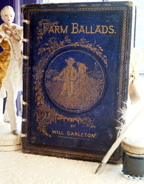 1874 Farm Ballads marriage advice guestbook date by VolumeVII