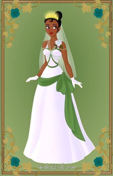 Mulan dress up deviantart tiana wedding dress by for Princess tiana wedding dress