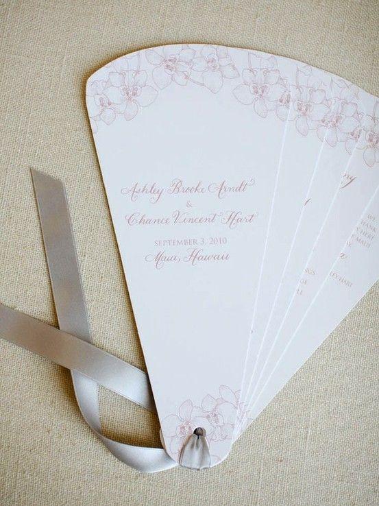 wedding program idea #wedding