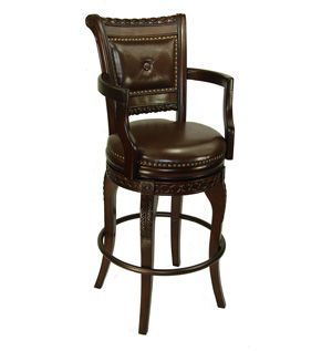 Comfortable Bar Stools With Arms Wooden Bar Stools With