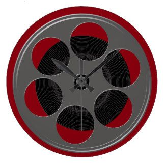 Movie Reel Clocks