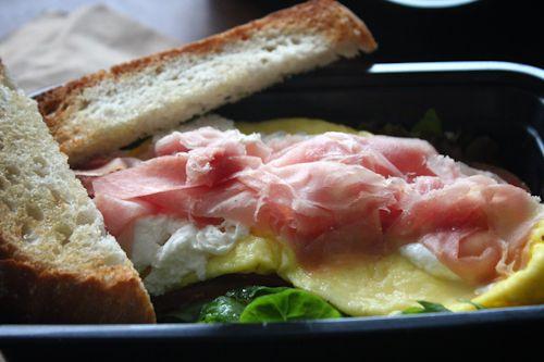 Bufala Mozzarella and Prosciutto Omelette