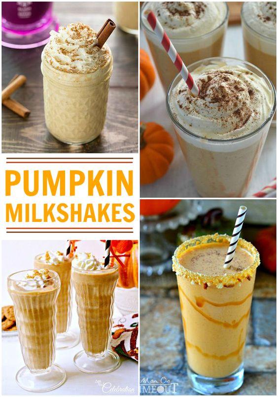 Pumpkin milkshake recipes you'll love - perfect fall snack!