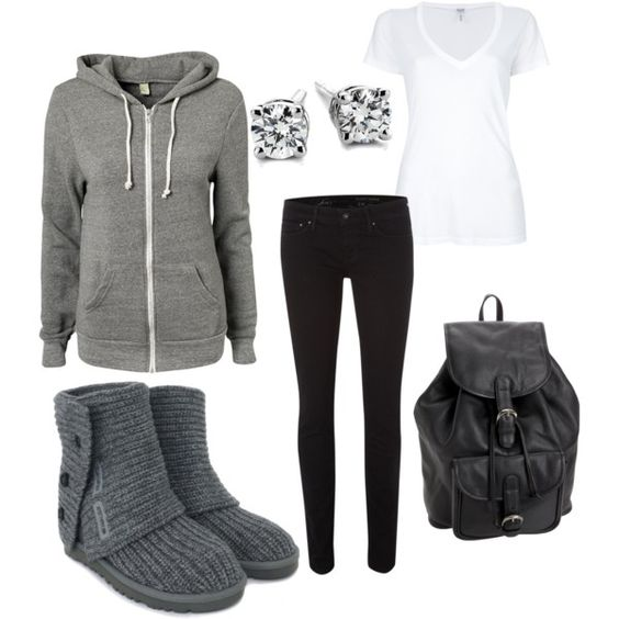 Winter outfit. Cute and comfy. Love the boots