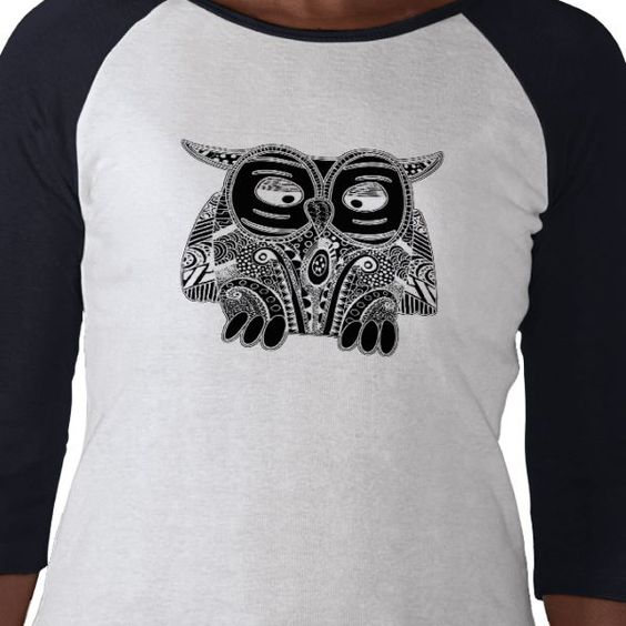 doodle owl tshirt