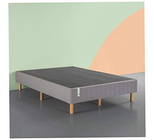 Wood Style Quick Snap Standing Mattress Foundation Queen Box Spring Grey Comfy Living Home Decor Furnitur Modway Furniture Shop Chair Home Decor Furniture