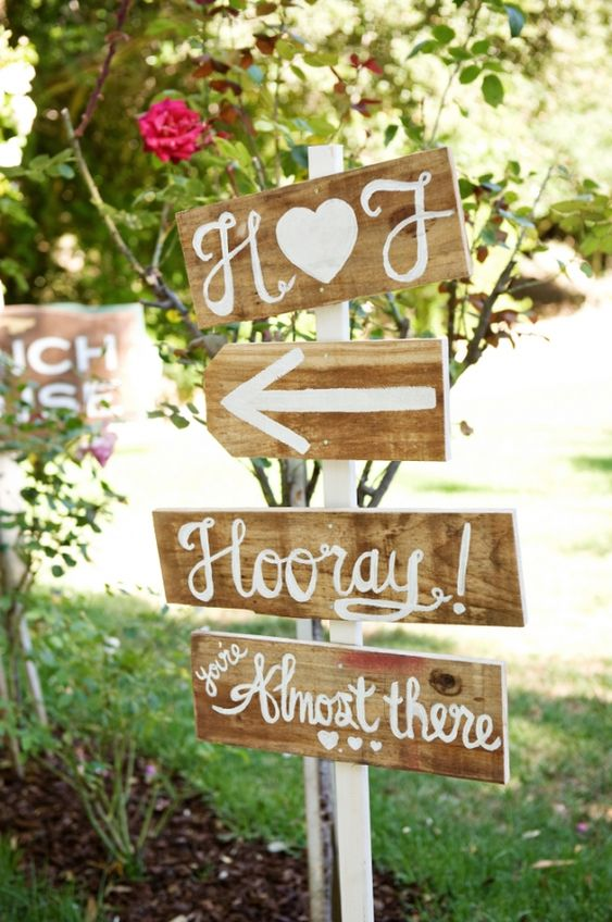 Wooden signs designed by GlitterandGanache.com shot by Next Exit Photography