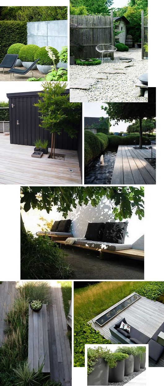 Lovely contemporary garden. Pinned to Garden Design by Darin Bradbury.