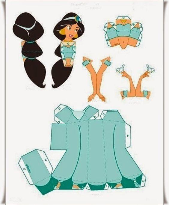 Kağıttan Elişi Disney Prenses Yapımı Resimli Anlatım 5