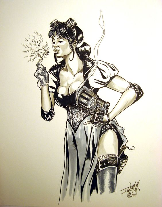 Steam Punk Snow White With A Bang by ConceptsByMiller.deviantart.com    David Miller SDCC 2012 Artists' Alley: HH-05