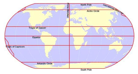 Tropics of cancer and capricorn on map tropic of cancer and north america map tropic of cancer equator prime meridian on tropic gumiabroncs Image collections