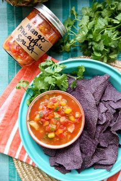 Canned Mango Pineapple Salsa from Our Best Bites
