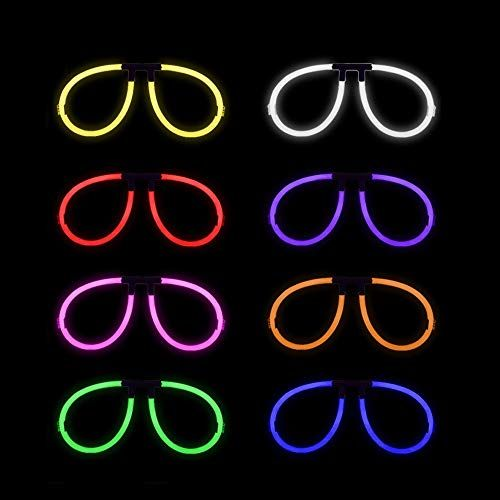 4 PIECES 2019 LED Light Up Glasses Novelty Club Party New Year Favors Costume