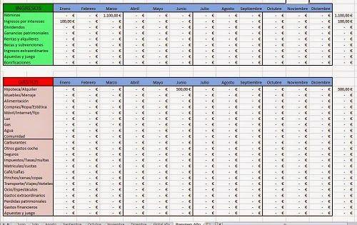 AhorroCapital: Nueva Plantilla Excel economía familiar 2015
