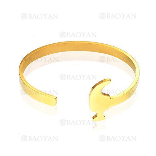 pulsera de moda de dorado en acero para mujer- SSBTG624775