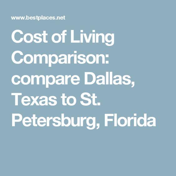 Cost Of Living Comparison Compare Dallas Texas To St Petersburg Florida Cost Of Living Croatia Zagreb