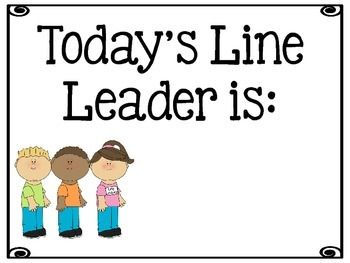 do your students argue about who is the line leader or run