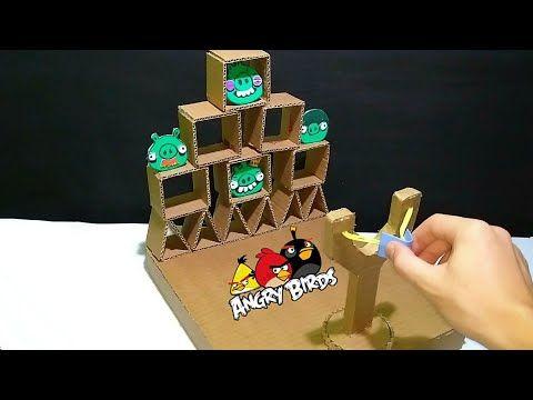 How To Make Subway Surfer Game From Cardboard With Touch Screen Youtube Como Fazer Um Jogo Artesanato Em Papelao Angry Birds