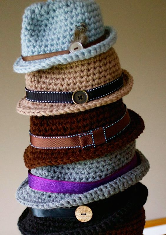 PDF Crochet Patterns Classic Fedora and Bow Tie | Sombreros de ala ...