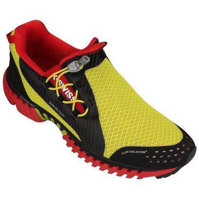 Tênis K-Swiss Kwicky Qt 2 – Amarelo e Vermelho - http://batecabeca.com.br/tenis-k-swiss-kwicky-qt-2-amarelo-e-vermelho-netshoes.html