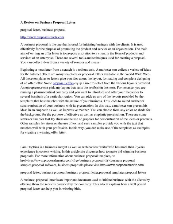 calama review business proposal letter Home Design Idea - business proposal letters