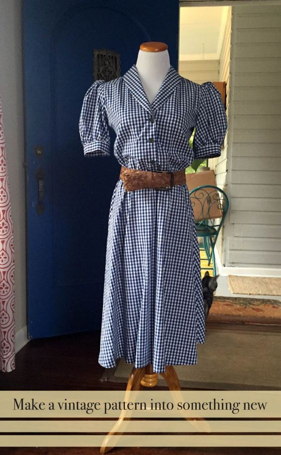 Use a vintage pattern to make a new dress!