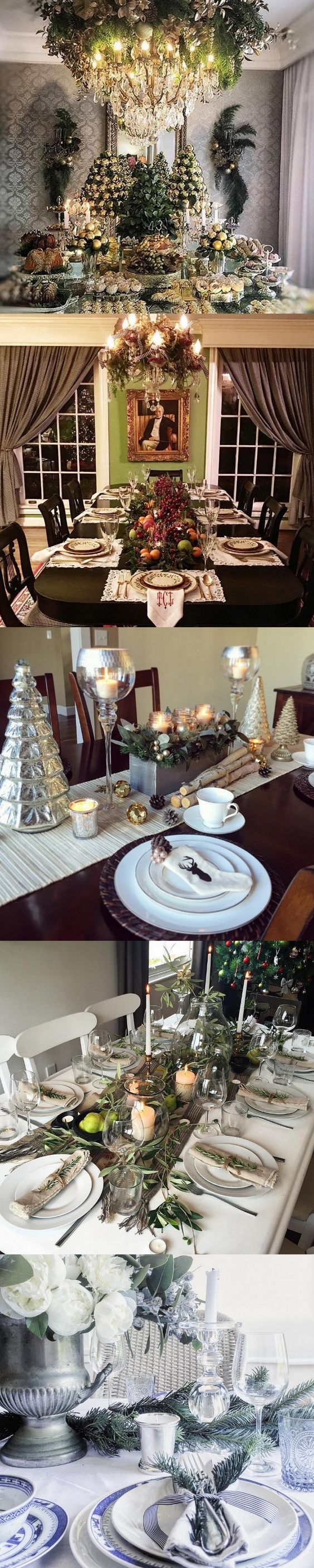 70 Ultra Modern Christmas Tablescape Stunners Modern