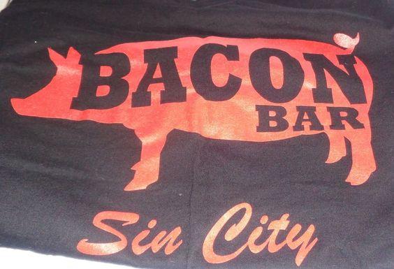 Bacon Bar Sin City Men's Large Short Sleeve Black T-Shirt #DistrictMade…