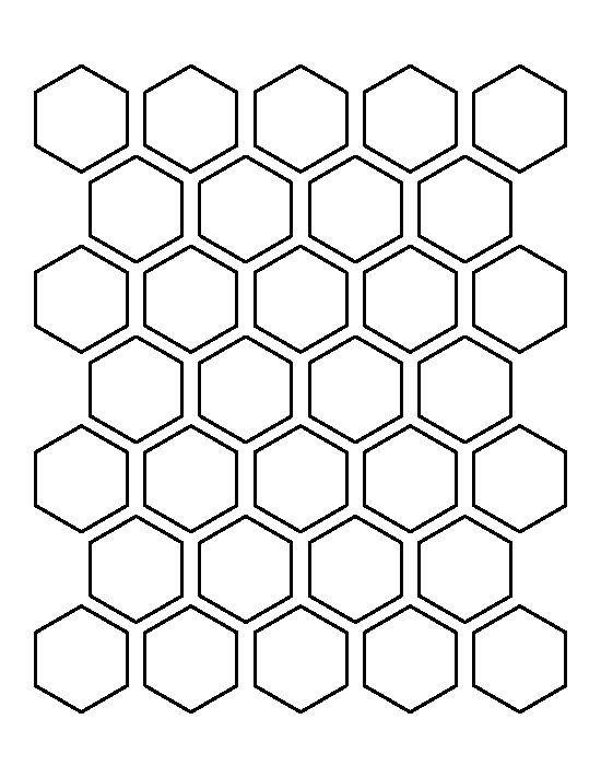 Hexagons Hexagon Pattern And Templates On Pinterest