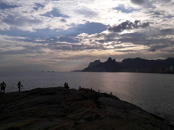 Piedra Arpoador, uno de los atardeceres mas lindos del mundo (Rio de Janeiro, Brasil)