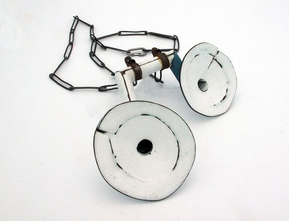 Aran Galligan - Pendant - Copper, Enamel, Silver, 2011: