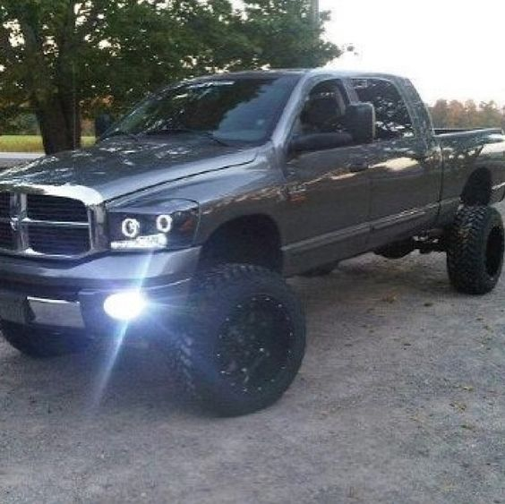 Lifted dodge Jacked up Dodge ram trucks