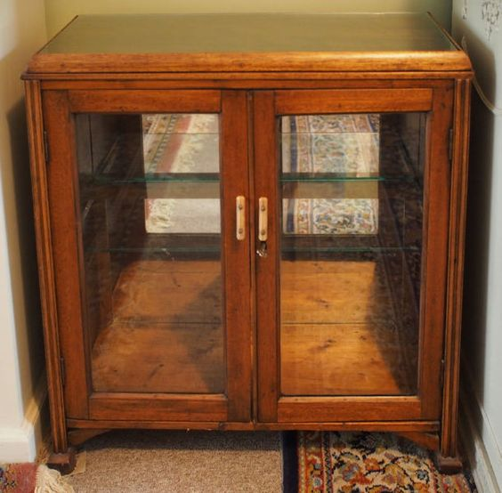 Kitchen Shelf Gumtree: Art Deco Display Cabinet. Solid Wood, Probably 1920s