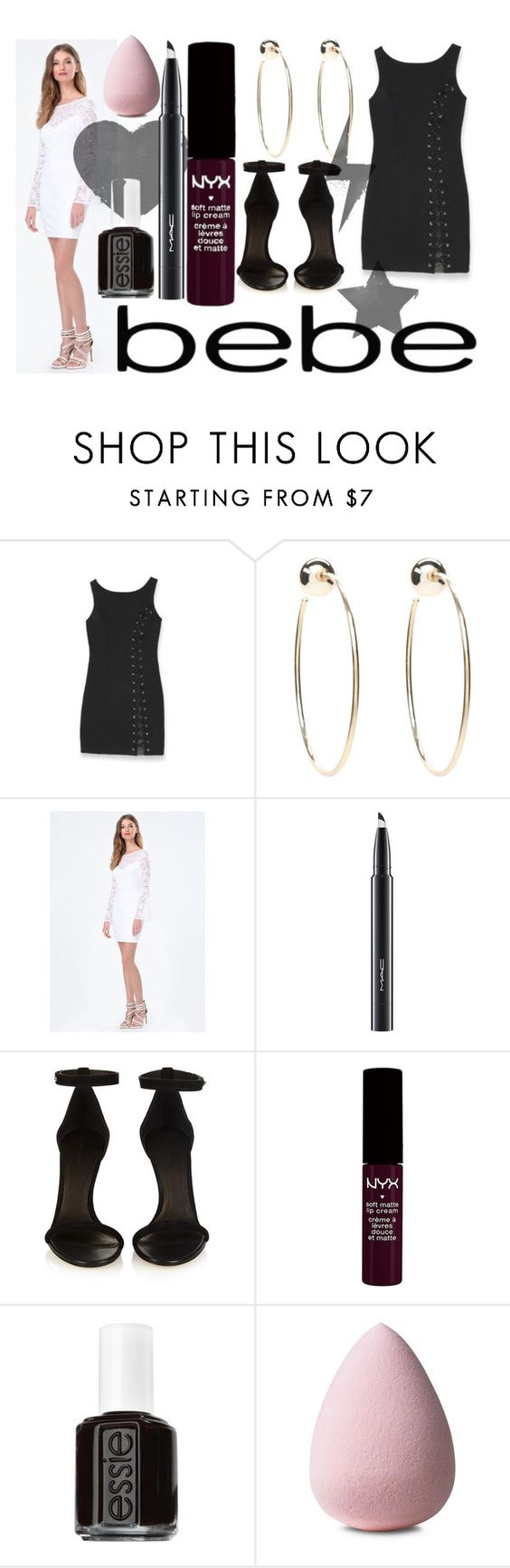 """All Laced Up for Spring with bebe: Contest Entry"" by perbhaatkhowaja ❤ liked on Polyvore featuring Bebe, MAC Cosmetics, Isabel Marant, NYX, Essie and alllacedup"