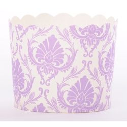 Simply Baked Large Baking Cups - Lilac Demask