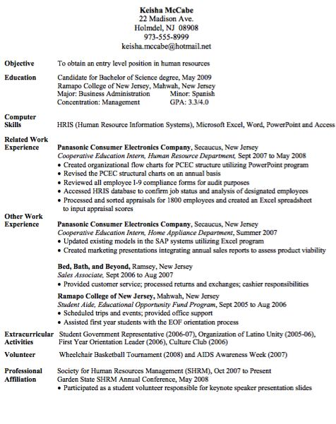Entry Level Human Resource Assistant Resume - http\/\/resumesdesign - human resources skills resume