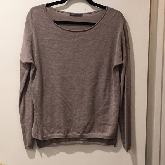 VINCE Sweater Greyish/purple light weight sweater. Super soft material. Vince Sweaters Crew & Scoop Necks