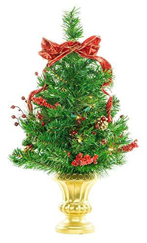 24 Prelit Decorated Tabletop Artificial Holiday Christmas Tree w