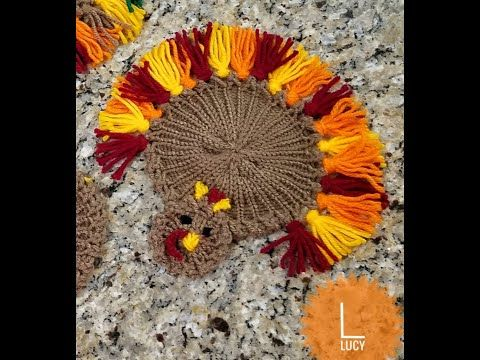 How To Loom Knit Coaster For Fall Turkey Coasters Thanksgiving